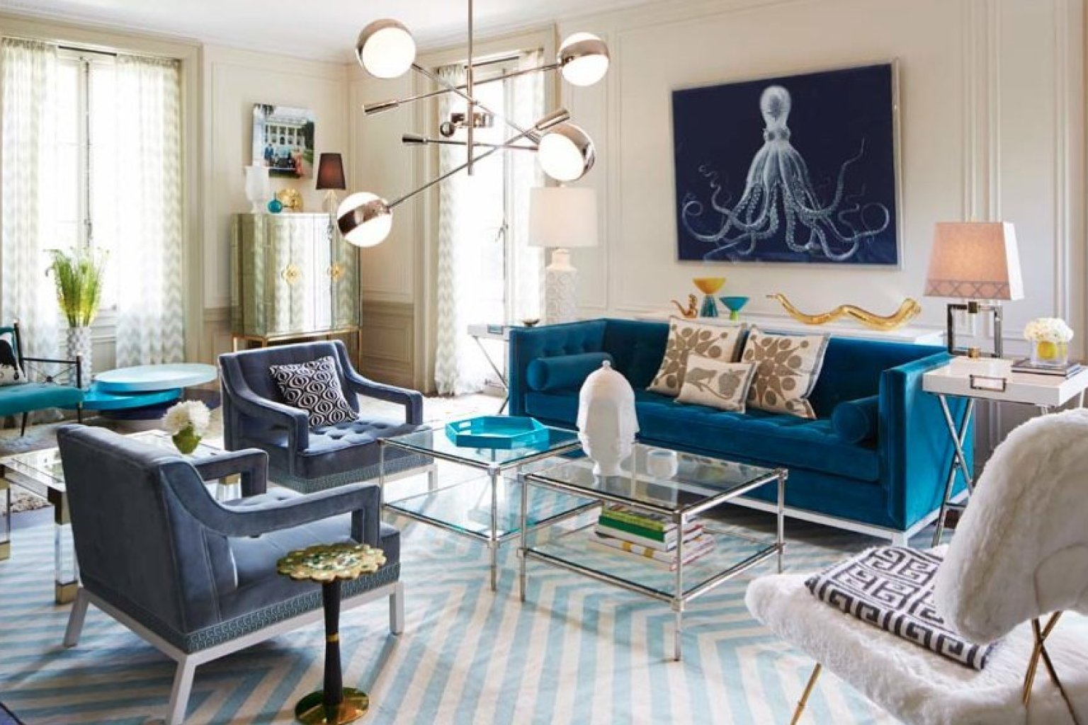 Colorful Rugs In Living Room Blue Green