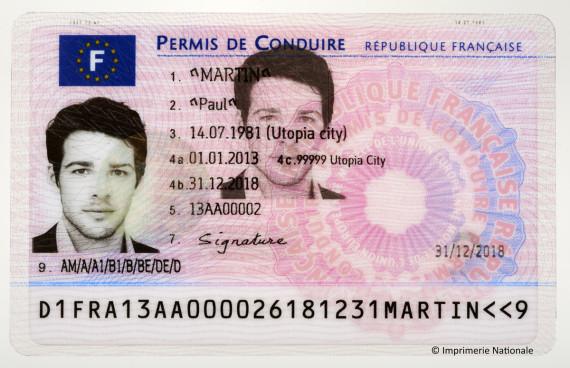 permis de conduire électronique
