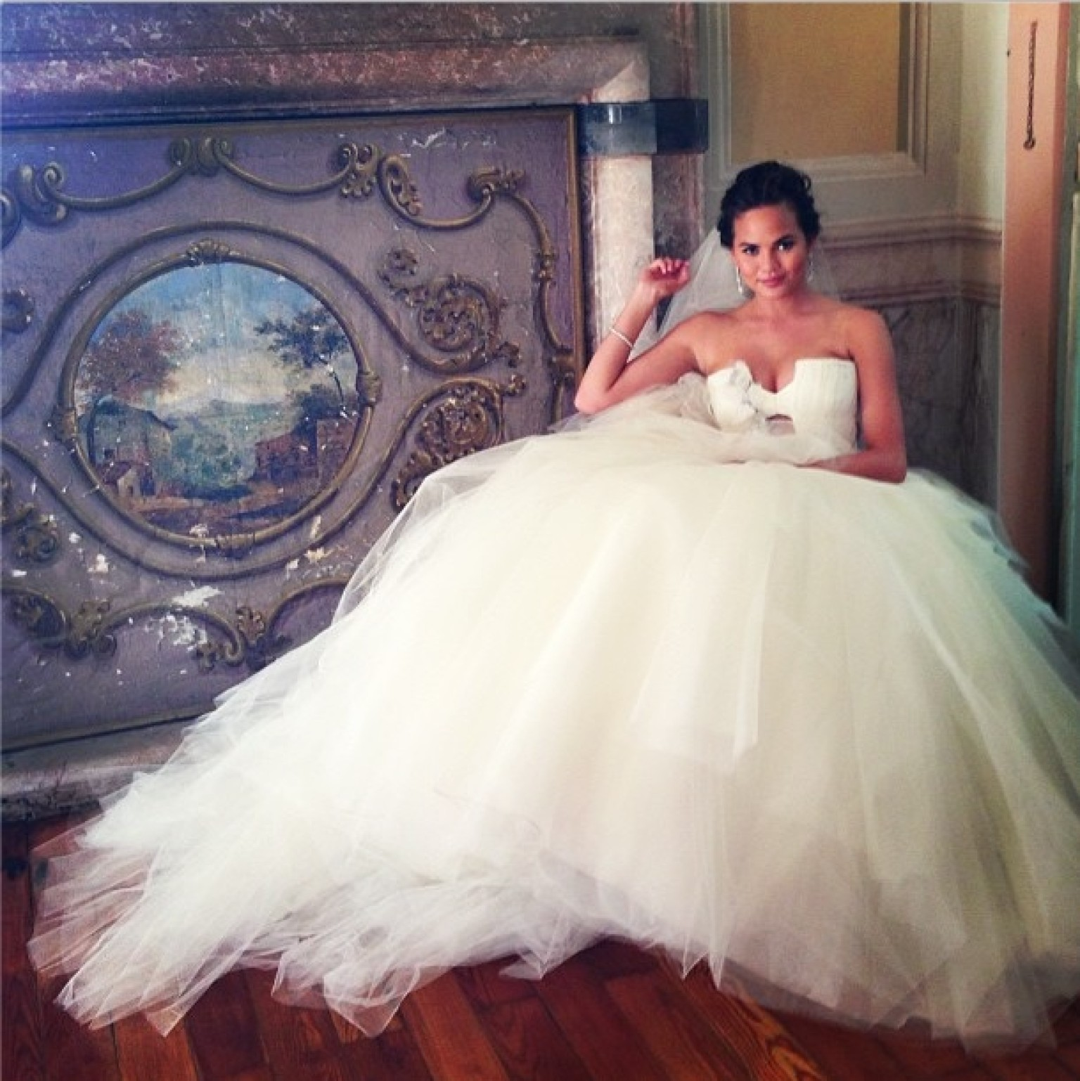 Chrissy Teigen's Wedding Dress Is Fit For A Princess ...