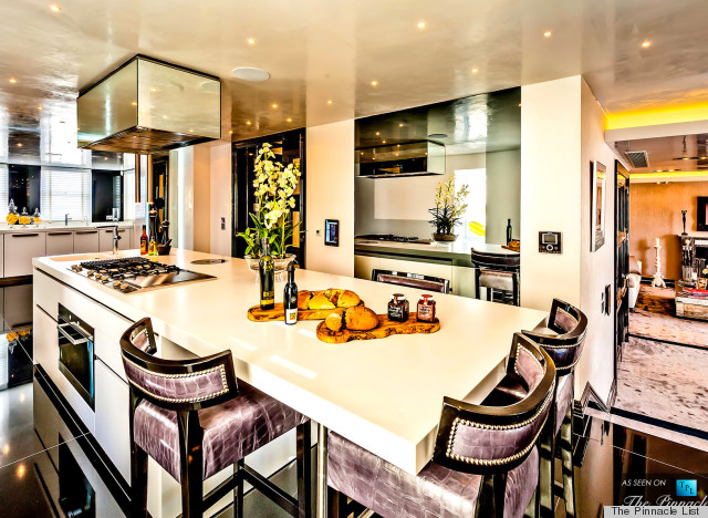 This luxury london flat has the dressing room of your Dressing a kitchen