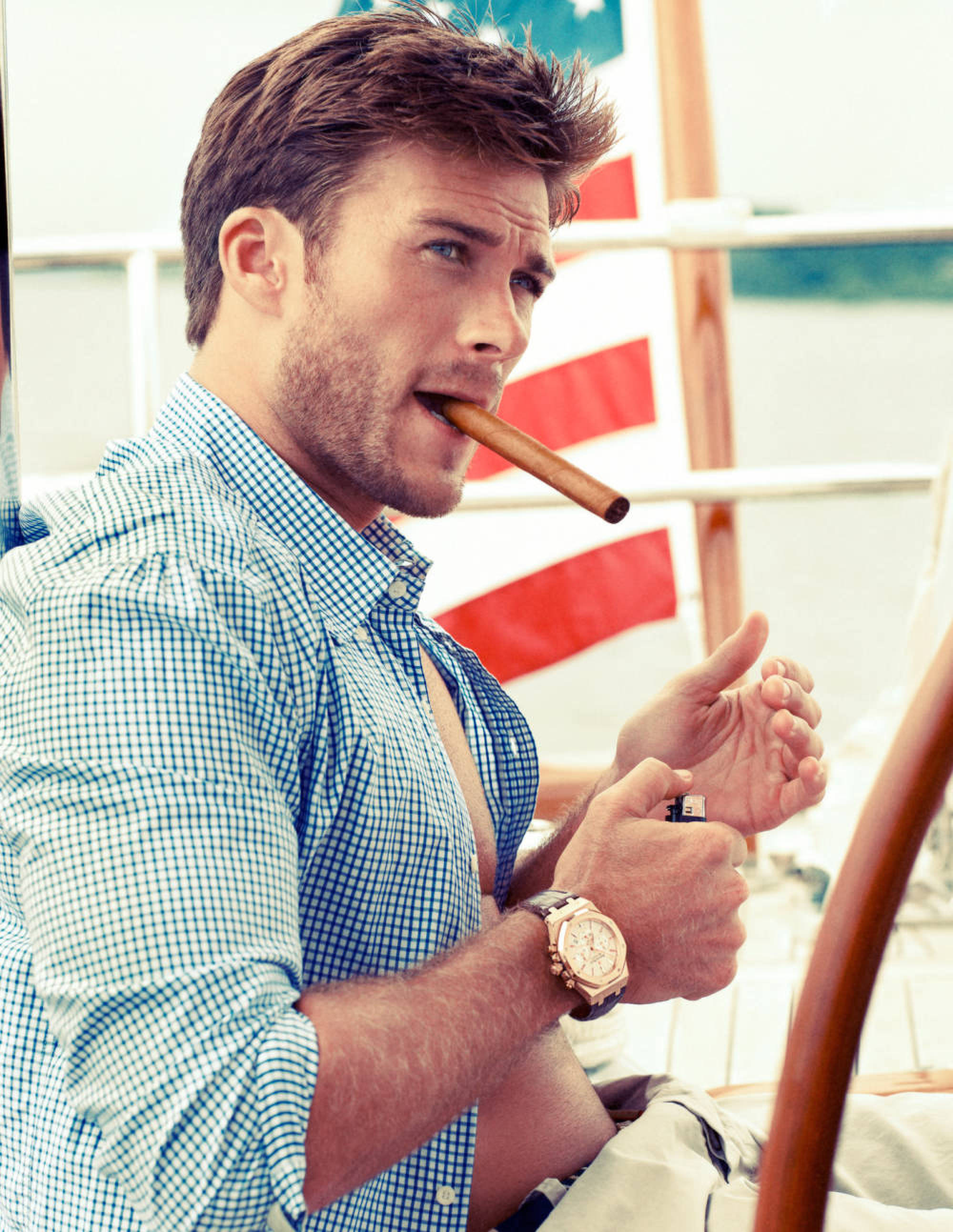 Scott Eastwood, Clint Eastwood's Son, Models For Town & Country ...