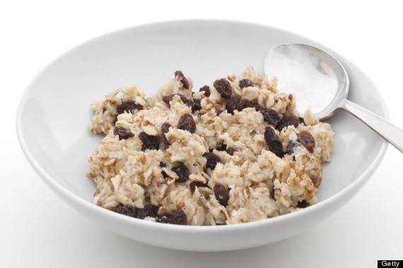 oatmeal raisins bowl