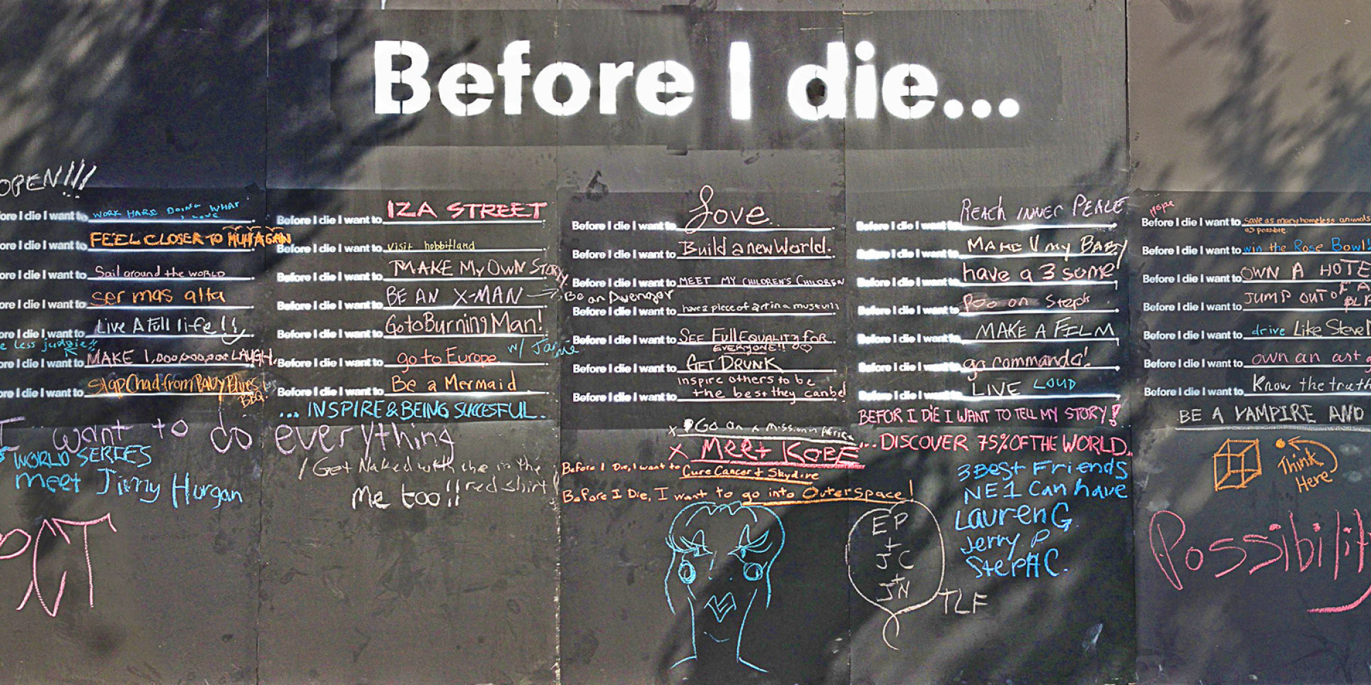 Before I Die Installation In West Hollywood Reveals