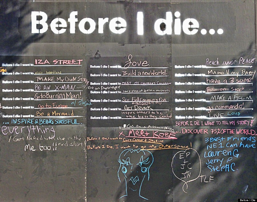 Before I Die Installation In West Hollywood Reveals Angelenos