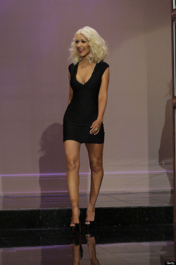 Christina Aguilera Reveals Slim Figure In Little Black Dress On 'Tonight Show With Jay Leno