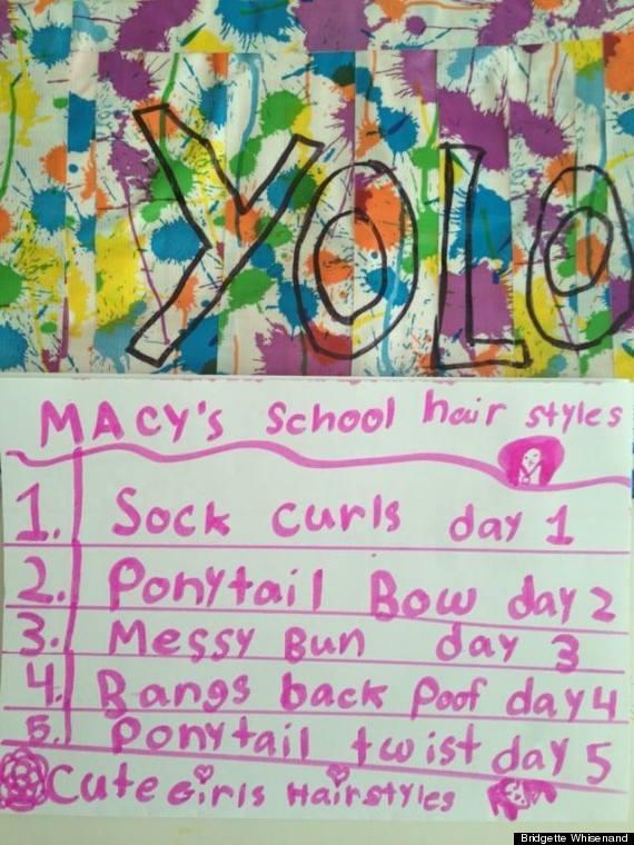 cute kid note of the day  macy u0026 39 s school hairstyles