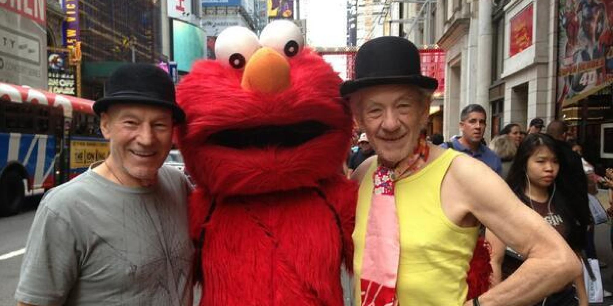 Photo of Patrick Stewart & his friend  Ian McKellen