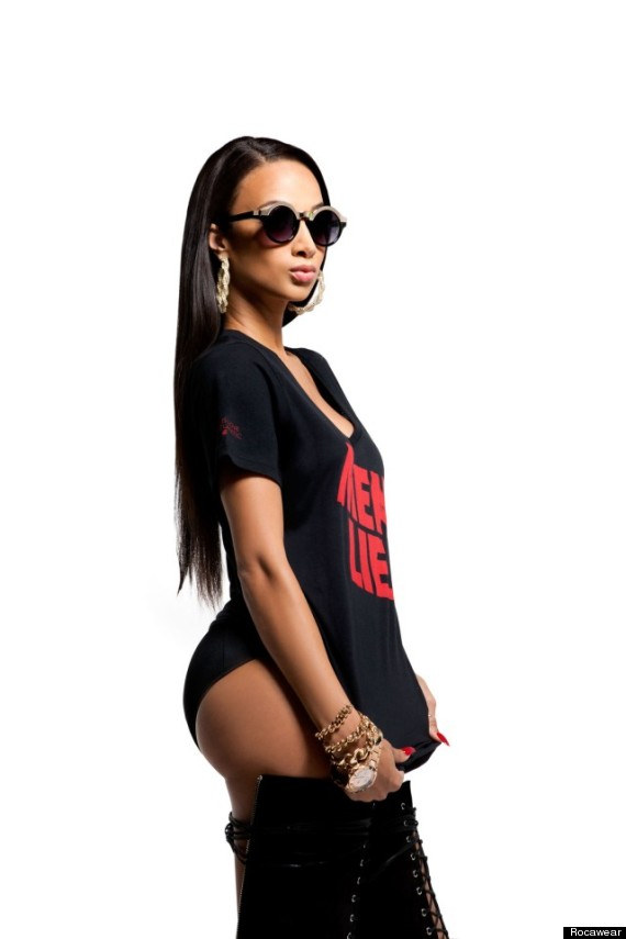 draya michele for rocawear basketball wives star poses