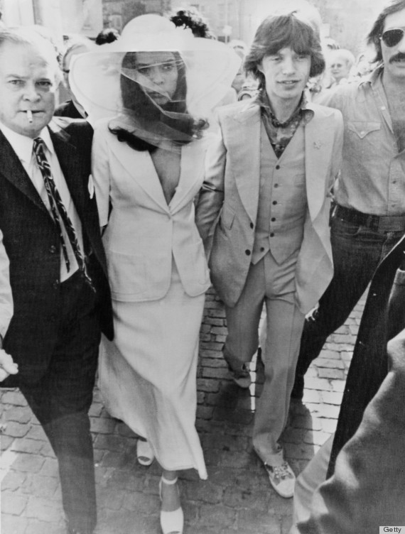Image result for bianca jagger wedding