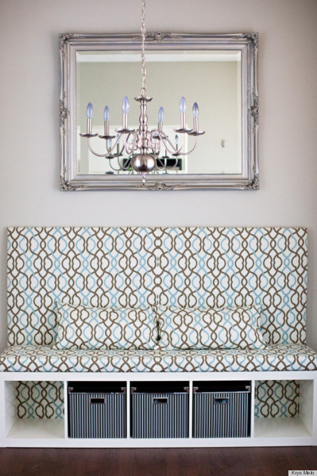 Diy ikea hack is the prettiest banquette seat weve ever seen diy solutioingenieria Images