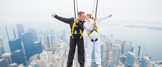 edgewalk wedding