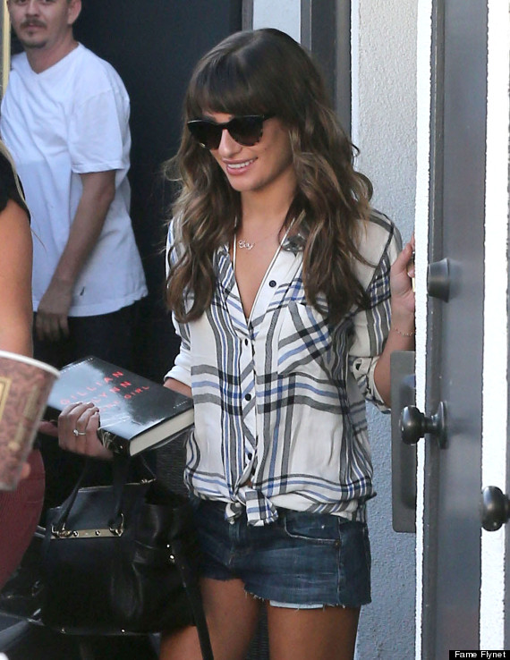 lea michele steps out in skinny jeans and boots in