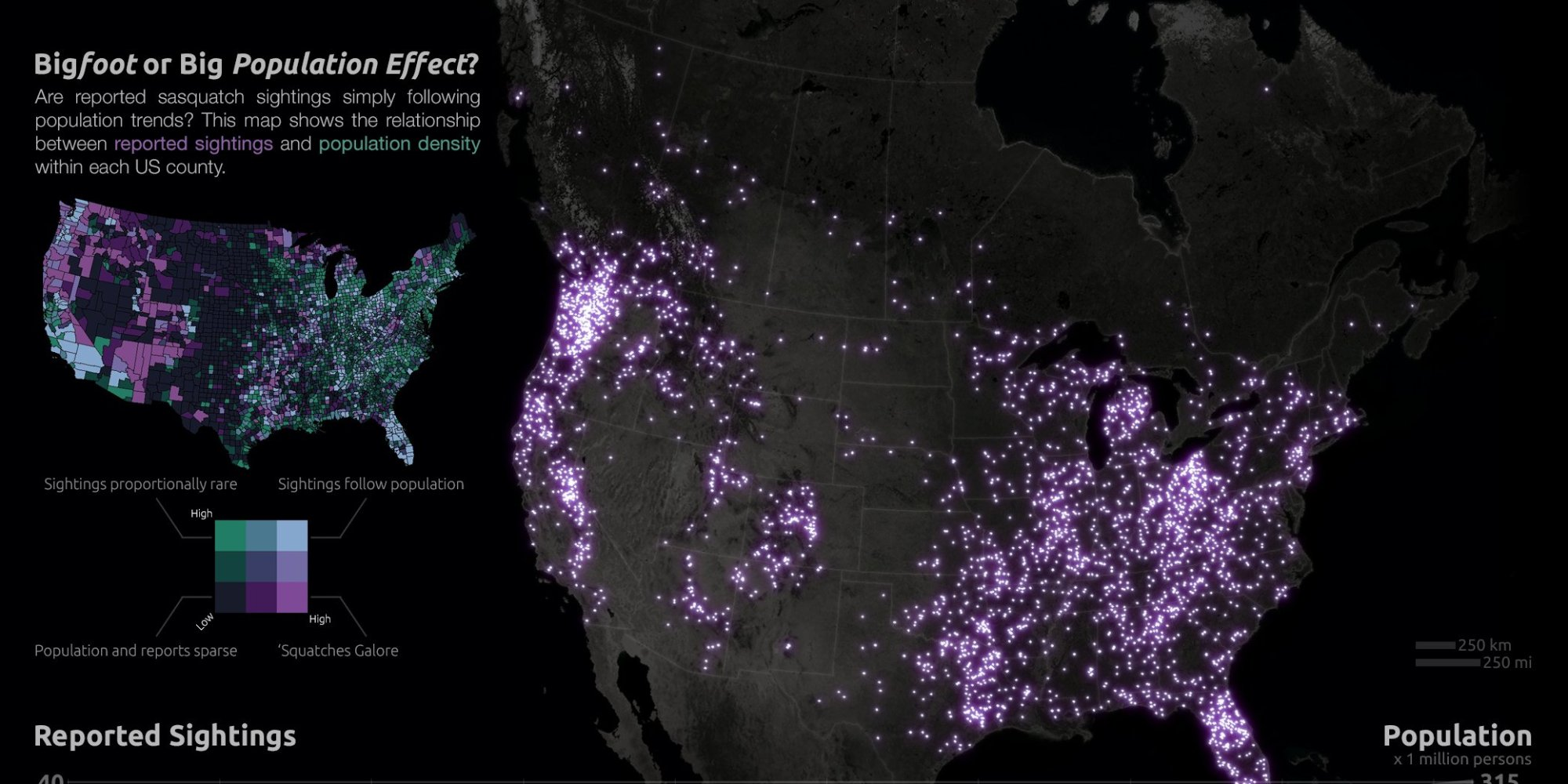 Bigfoot Sightings Map See 92 Years Of Squatch In The U S Canada By Josh Stevens Photo Huffpost