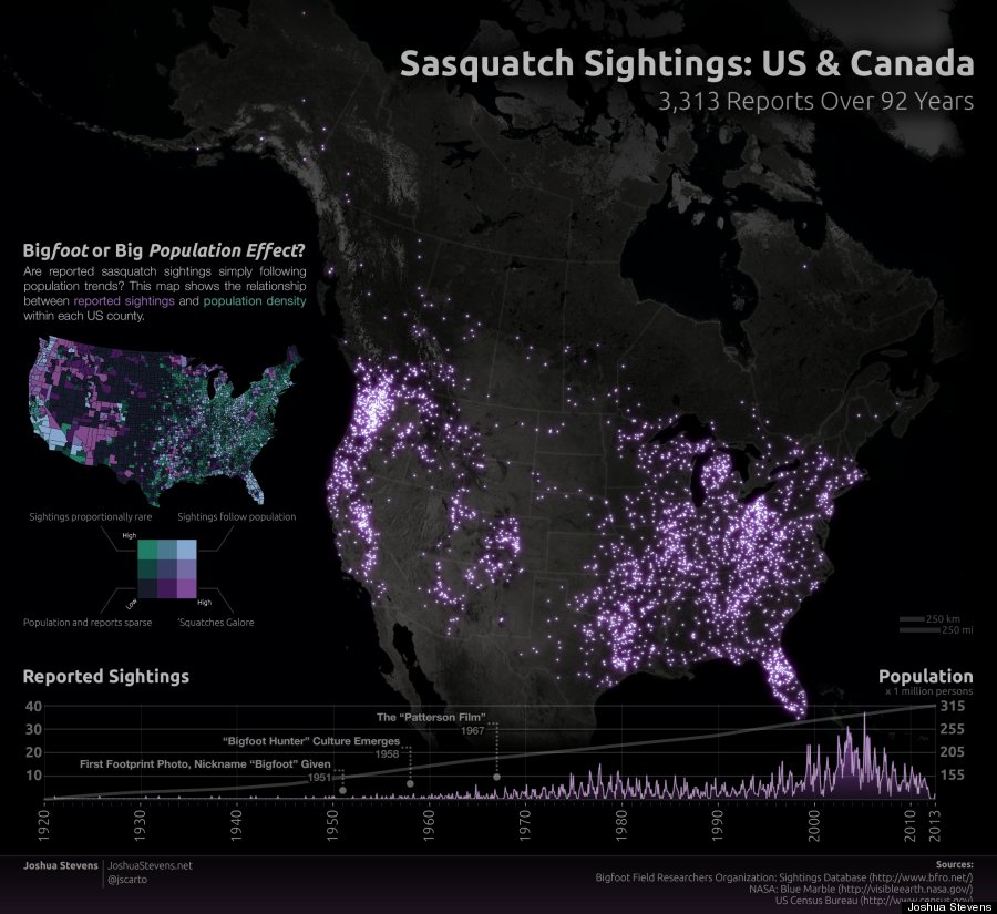 sasquatch sightings map