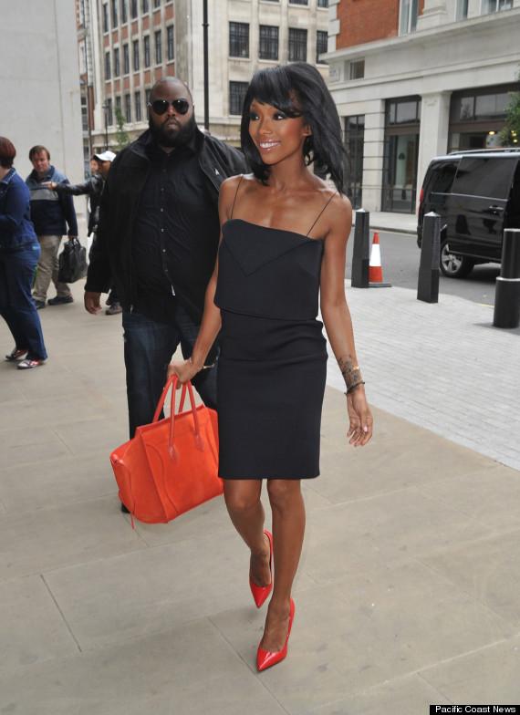 brandy stuns in an elegant dress in london huffpost