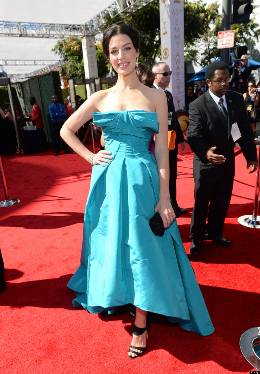 Jessica Pare Emmys 2013: 'Mad Men' Star's Red Carpet Dress