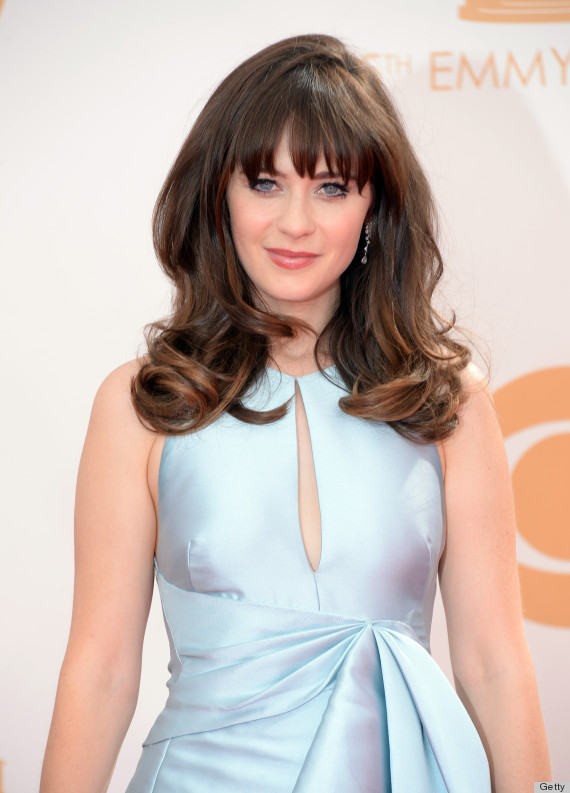 zooey deschanel emmy dress 2013 is an icy blue confection