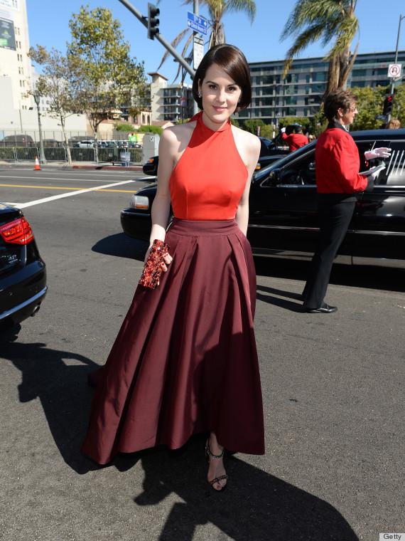 Michelle Dockery's Emmy Dress 2013 Is A Stunning Prada ... K Michelle 2013 Photoshoot