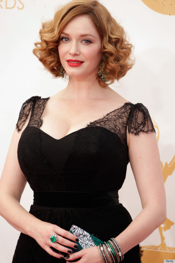 christina hendricks emmy dress 2013