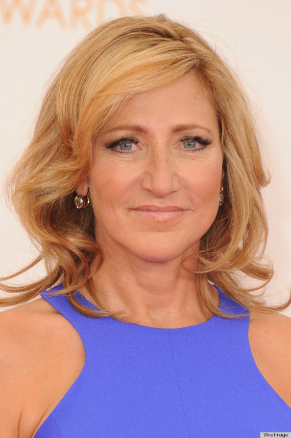 Edie Falco S Emmy Dress 2013 Is Tight And Purple Photos