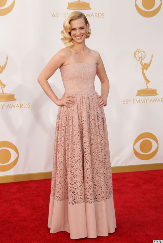 January Jones Emmy Dress 2013 Is Far From Betty Draper S