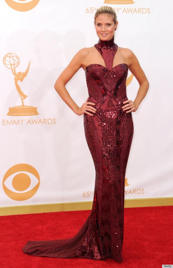 Heidi Klum's Emmy 2013 Dress Is Fierce Fuschia (PHOTOS ...