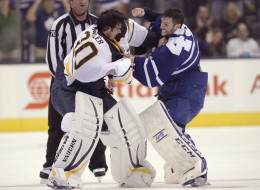 Leafs, Sabres Hockey Fight
