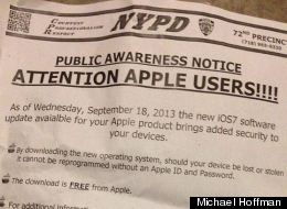 NYPD Officially Endorse iOS 7 - And For A Pretty Good Reason