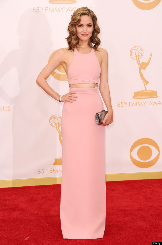 Rose Byrne Debuts Blond Hair On Emmys Red Carpet Photos