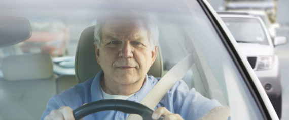 ELDERLY DRIVER ON THE ROAD