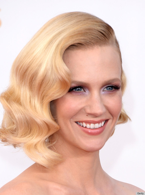 january jones emmy beauty 2013