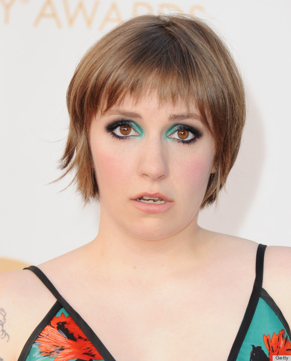 lena dunham emmy beauty 2013
