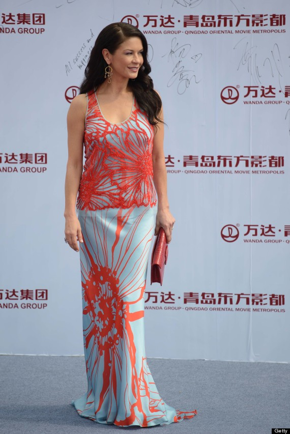 catherine zeta jones stuns on the red carpet in china in