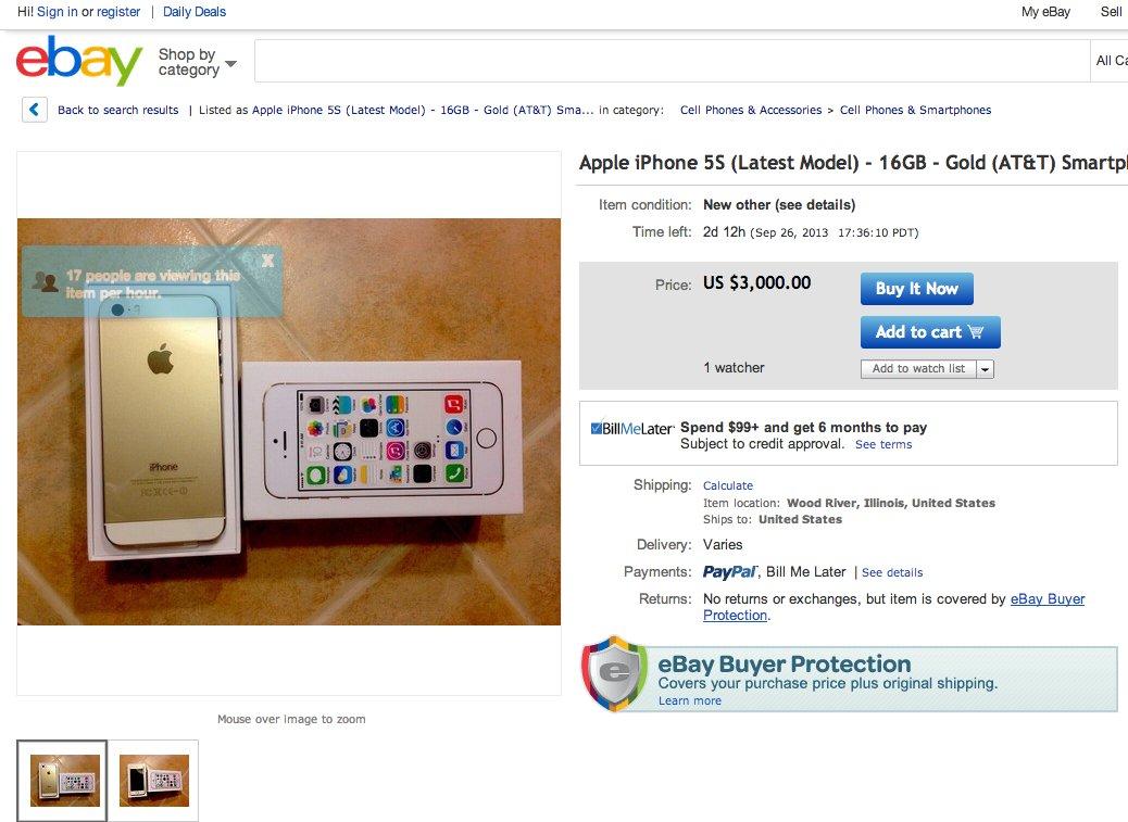 gold iphone ebay