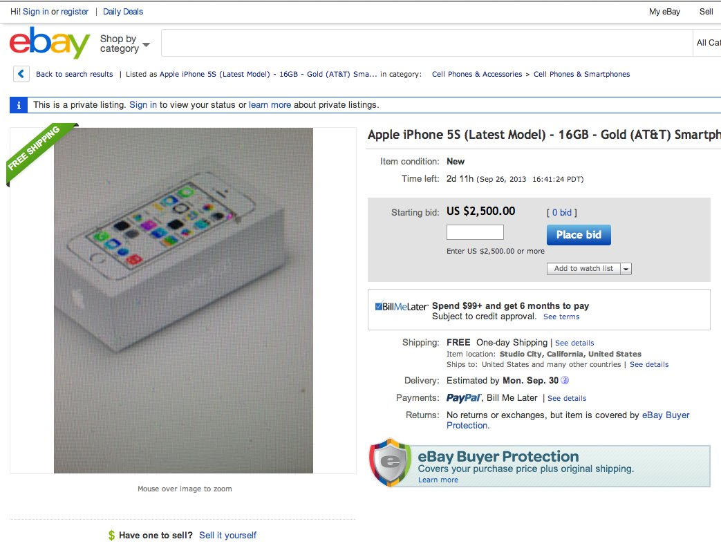 gold iphone ebay apple
