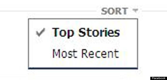 facebook most recent top stories
