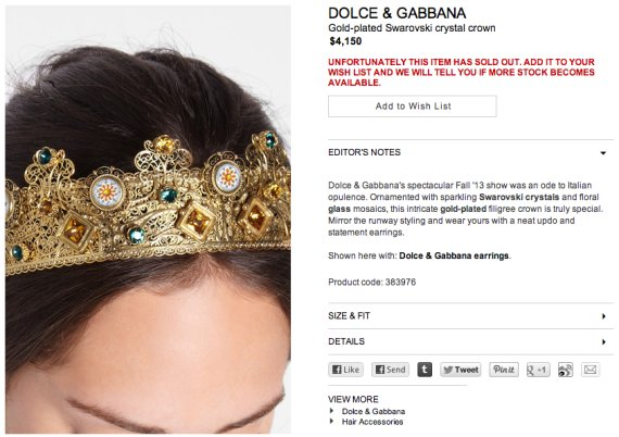 crown dolce gabbana