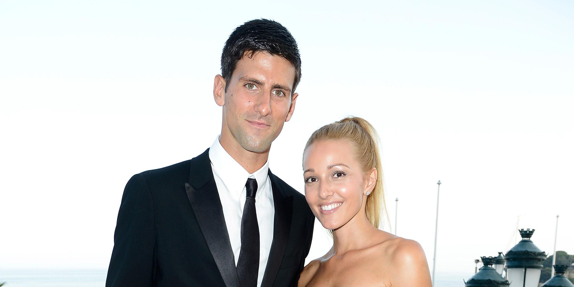 novak djokovic engaged to girlfriend jelena ristic  tennis star shares news on twitter  photo