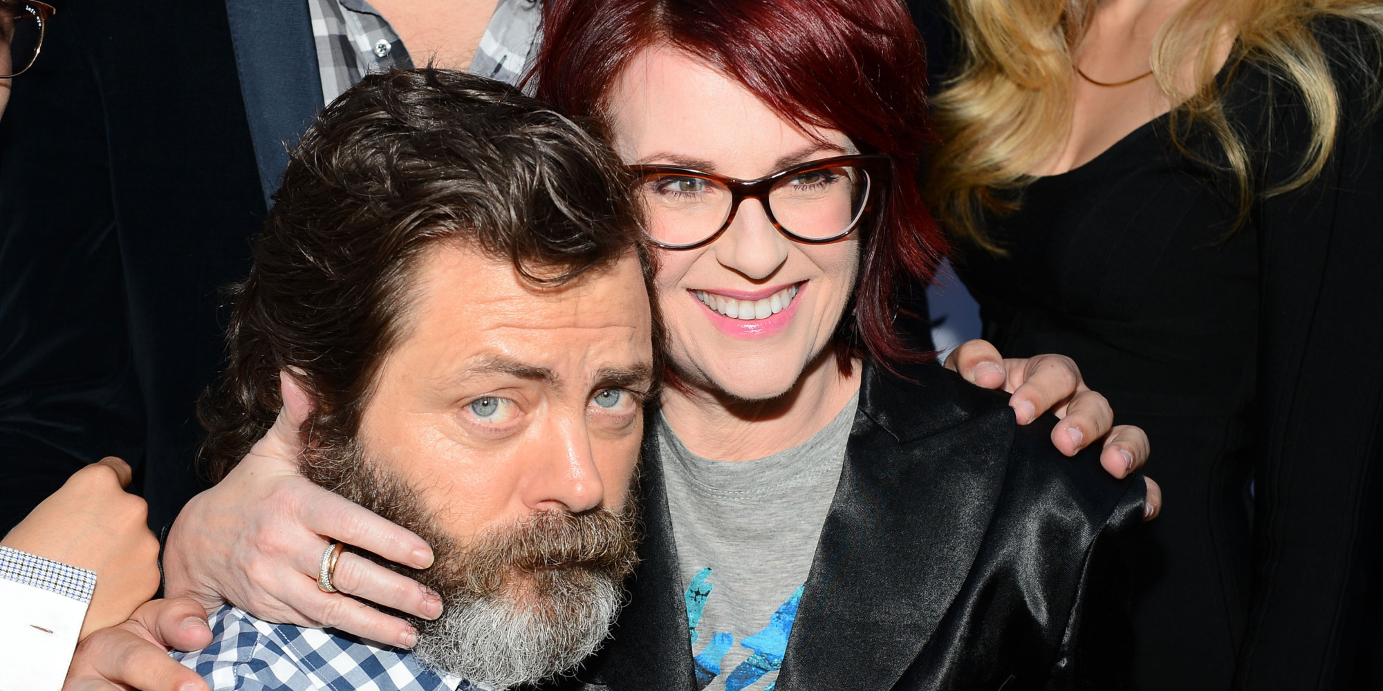 Megan Mullally Nick Offerman Megan Mullally Have An Awesome Engagement Story