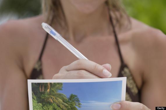 sending a postcard