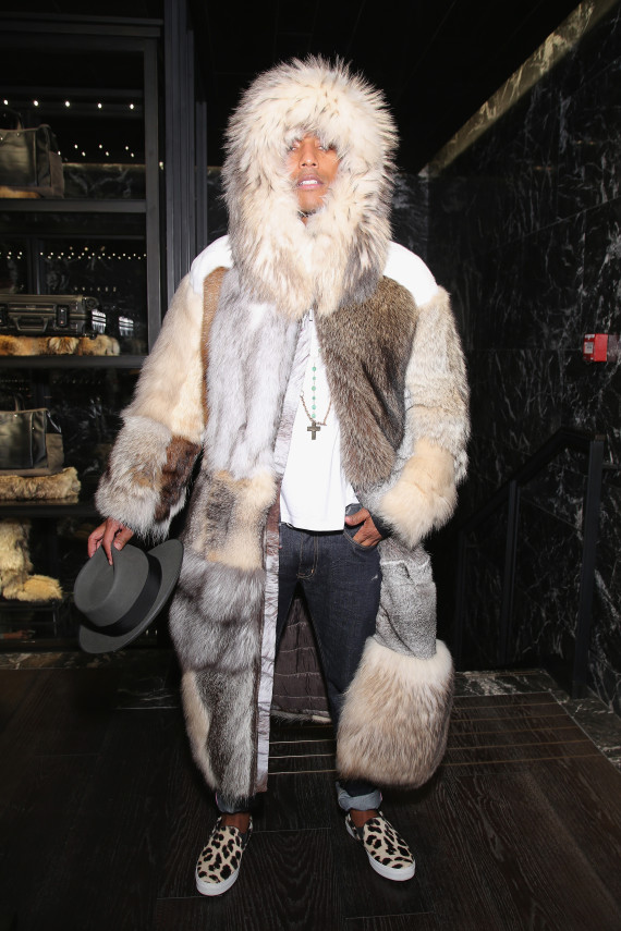 Pharrell Wears Fur Coat Made Of All The Woodland Creatures | HuffPost
