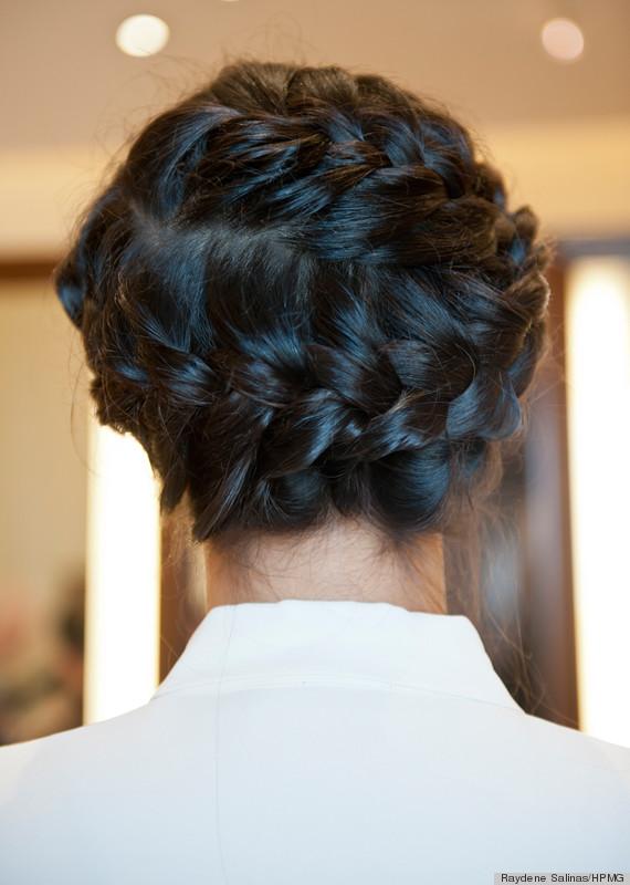 braids back