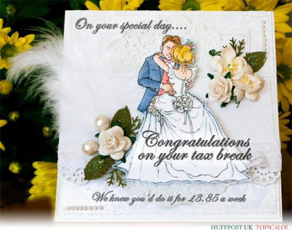 married couple tax break card spoof