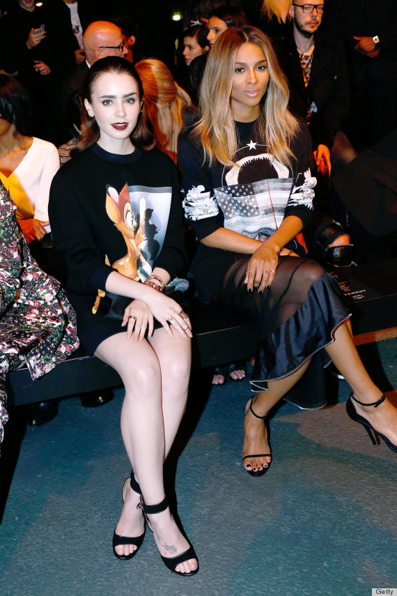 lily collins sweatshirt givenchy