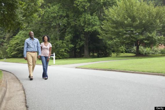 walking around neighborhood