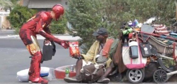 iron man homeless