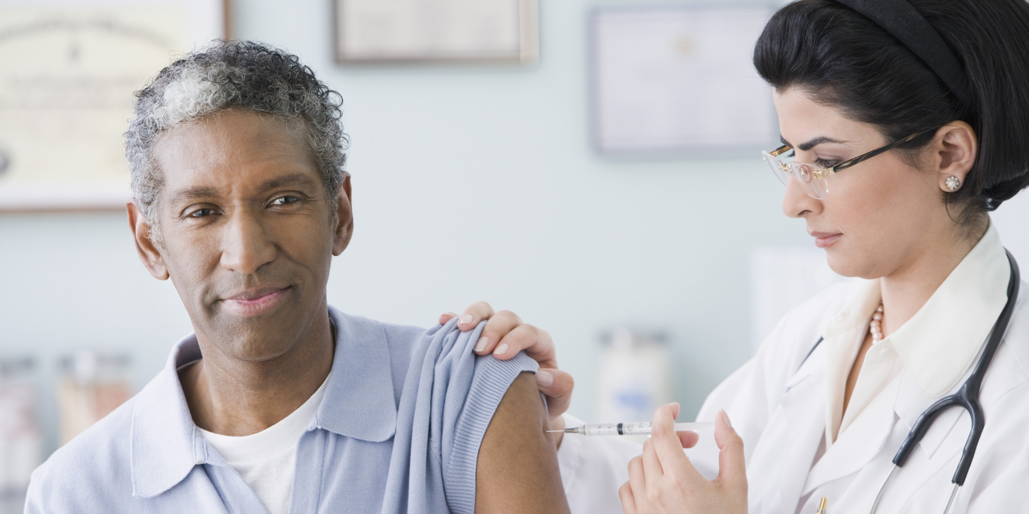 influenza vaccine for elderly and young Seniors were up to less likely to be diagnosed with flu-related illness if they resided in places where more adults under the age of 65 years old were immunized.