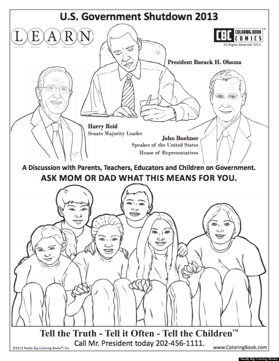 The Government Shutdown Coloring Book For Kids No One Was Waiting ...