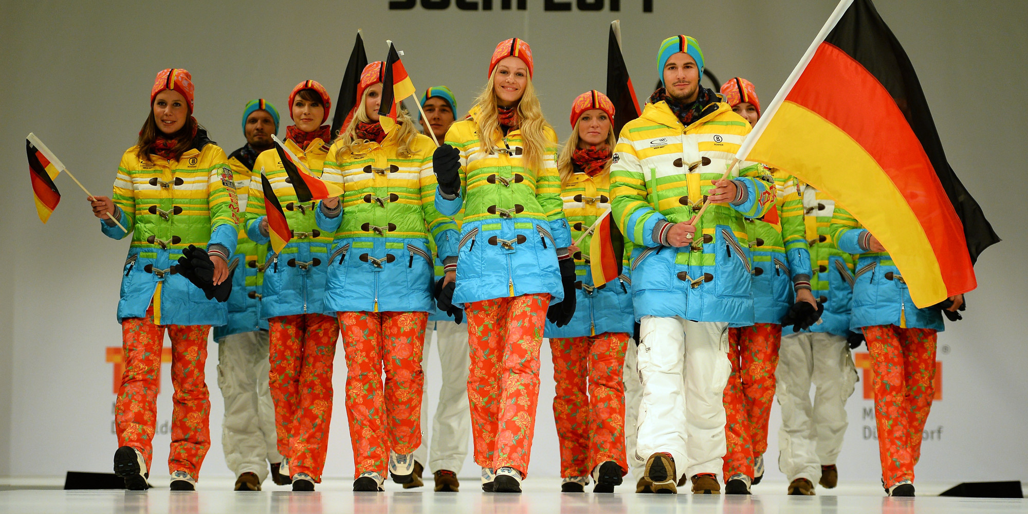 germany sochi olympic team insists 39 rainbow 39 uniforms aren 39 t a gay rights protest huffpost. Black Bedroom Furniture Sets. Home Design Ideas