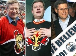 stephen harper favourite hockey team